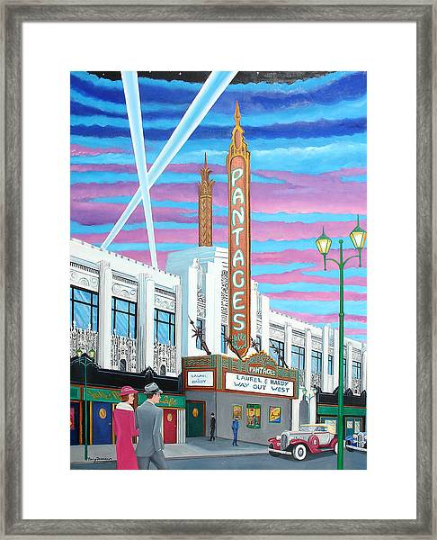 The Pantages Theatre Framed Print