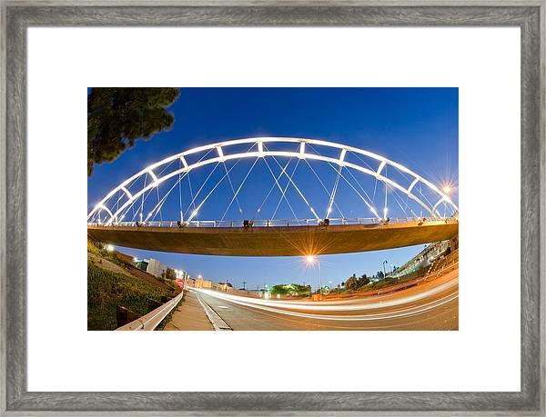 The Pedestrian Bridge Framed Print