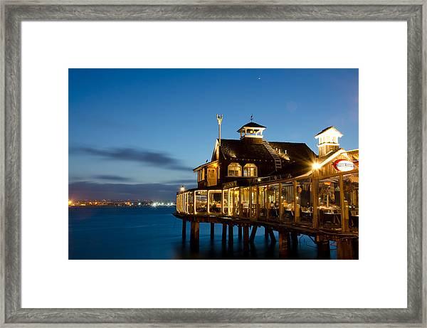The Pier Cafe Framed Print