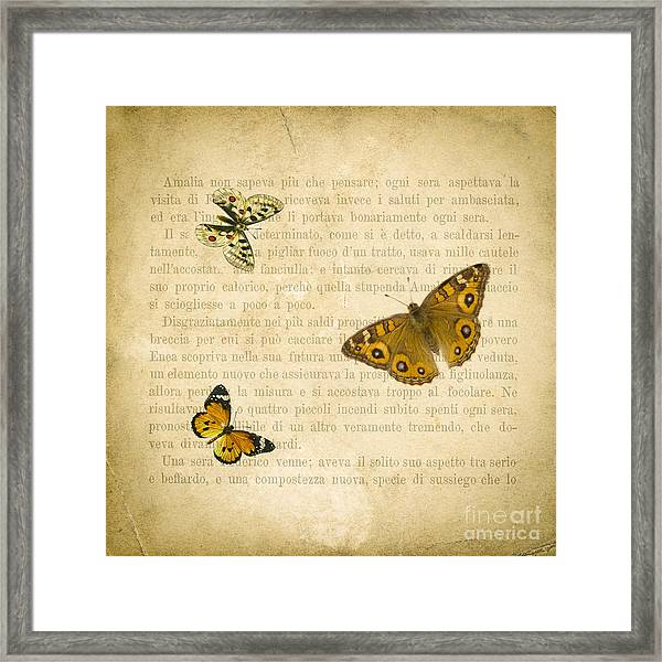 The Printed Page 1 Framed Print