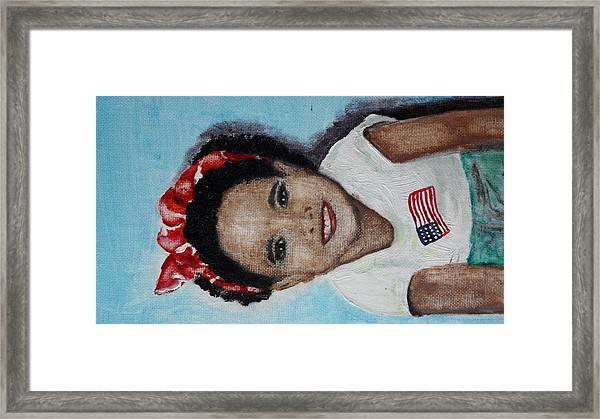 The Red Bandana Framed Print by Lora Bradshaw