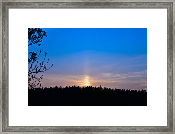 The Road To The Sky Framed Print