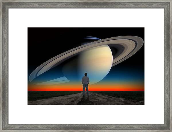 The Saturn Gaze Framed Print
