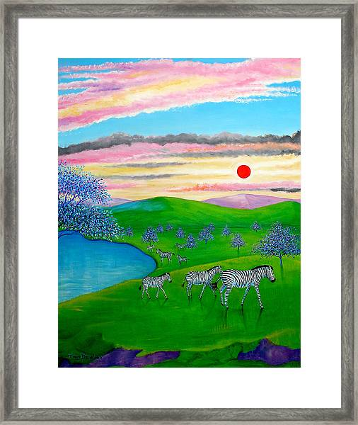 The Setting Sun Framed Print