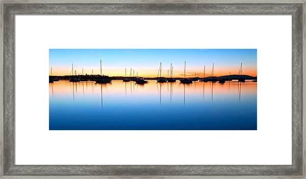 The Silent Fleet Framed Print
