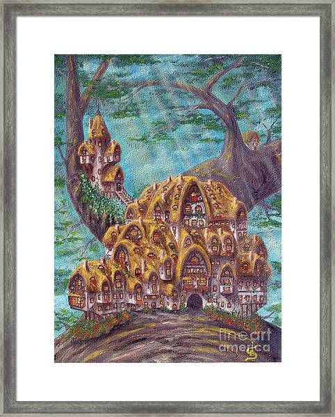 The Small Straddle House From Arboregal Framed Print