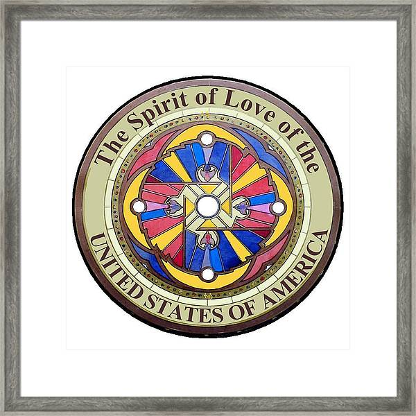 The Spirit Of Love Of The United States Of America Framed Print