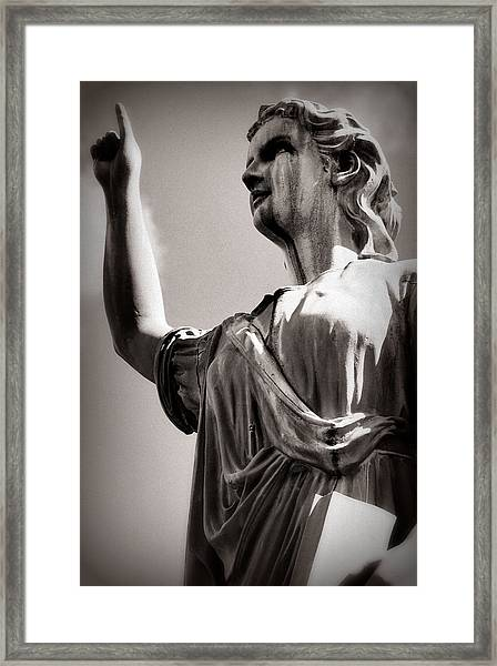 The Stone Protector Framed Print