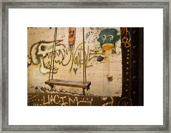 Framed Print featuring the photograph The Swing by Priya Ghose