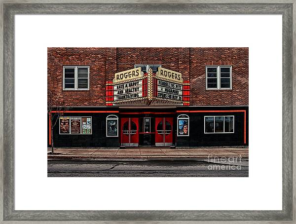 The Theater  Framed Print