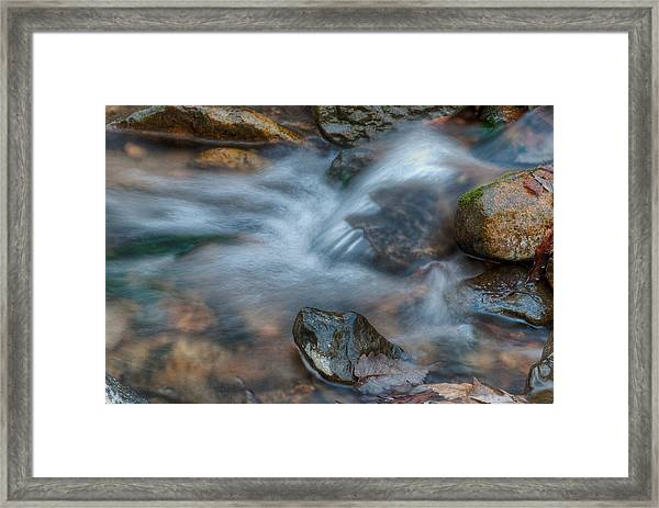 The Turtle Rock In Water Framed Print