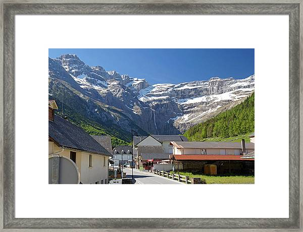 The Village Of Gavarnie Framed Print