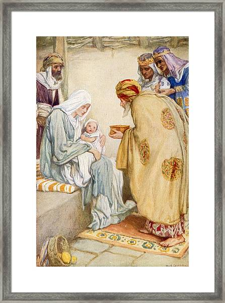 The Visit Of The Wise Men Framed Print