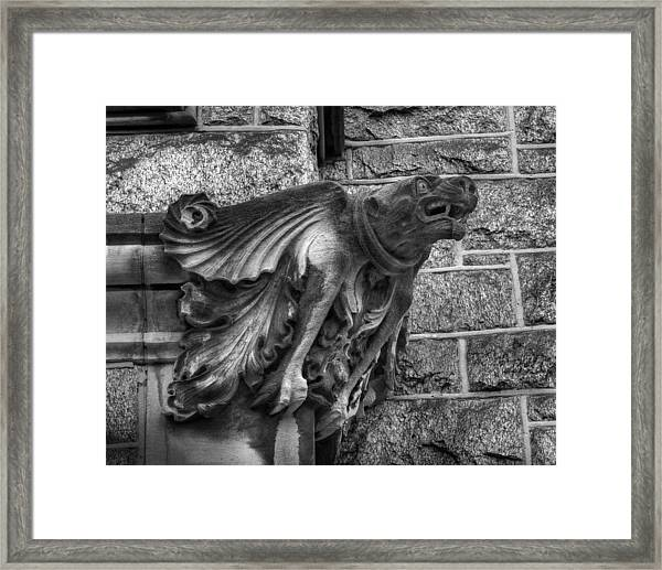 The Watchful Gargoyle Framed Print