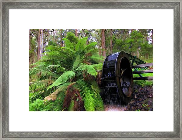 The Water Wheel Framed Print