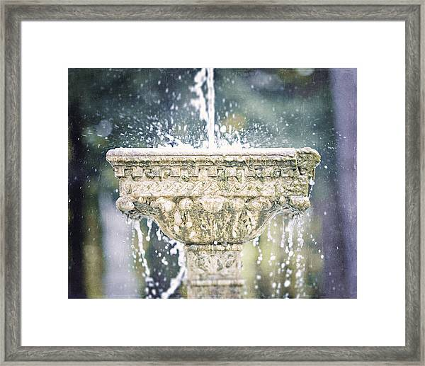 The Yaddo Fountain Framed Print by Lisa Russo