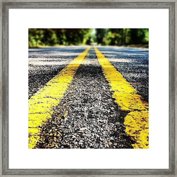 The Yellow Lines Framed Print