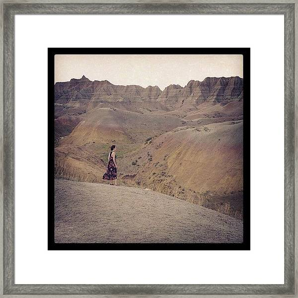 The Yellow Mounds Framed Print