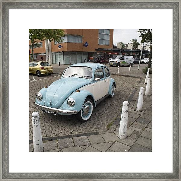 There She Is Again #vw #volkswagen Framed Print