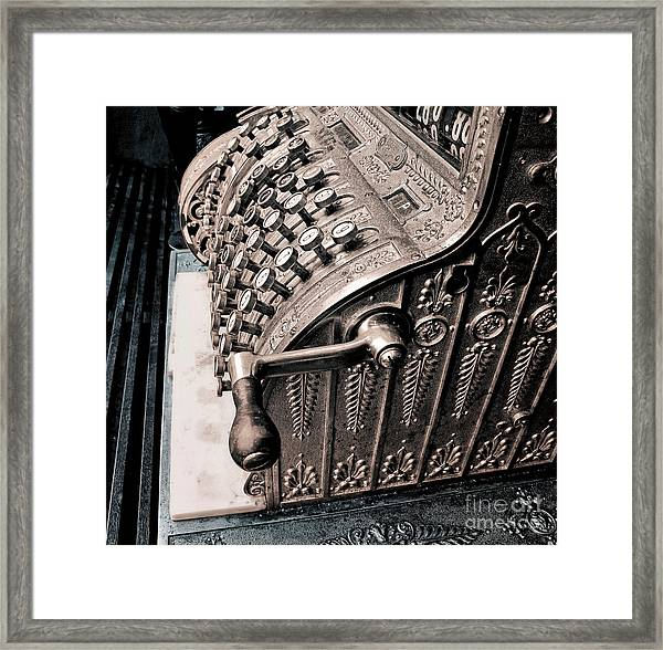 Thinking About Money Framed Print