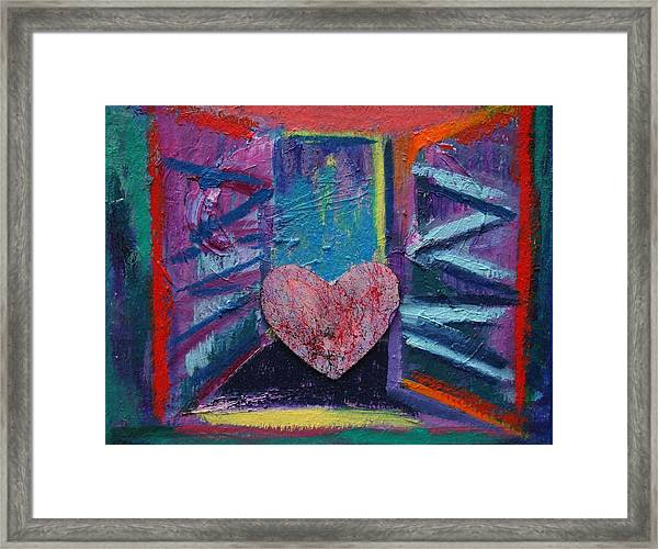 This Heart Wants Out Framed Print