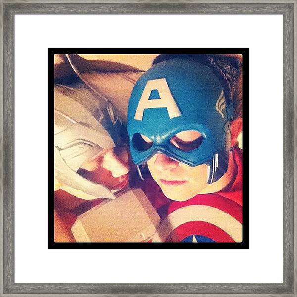 Thor And Captain America. #gay #lovers Framed Print