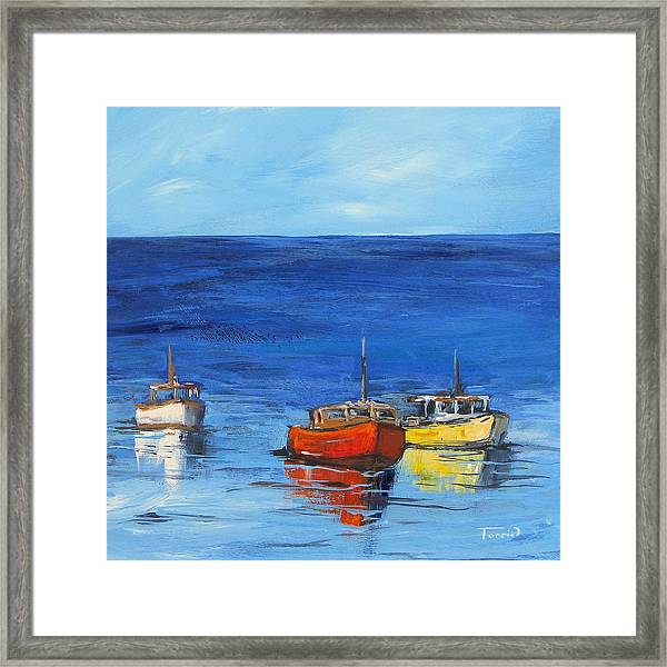 Three Boats Framed Print by Torrie Smiley