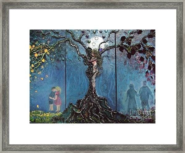 Three Stages Of Love Framed Print