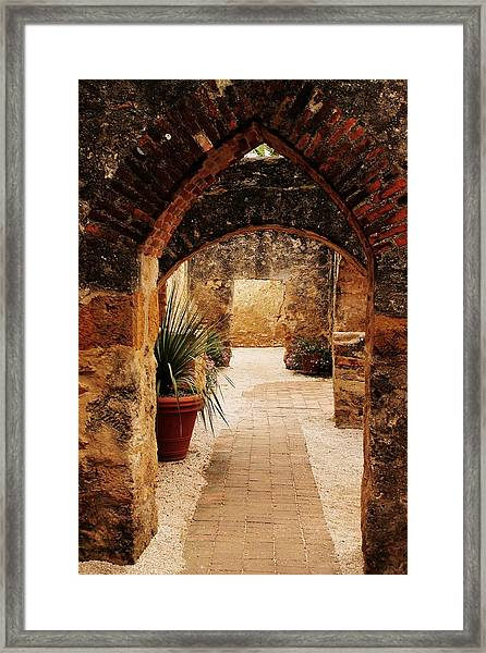 Through The Archway  Framed Print
