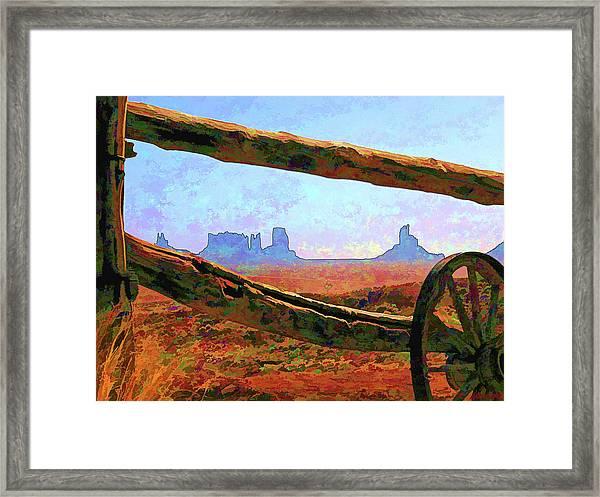 Thru The Fence Framed Print