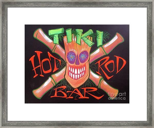Tiki Hot Rod Bar Framed Print