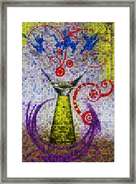 Tiled Glass Framed Print