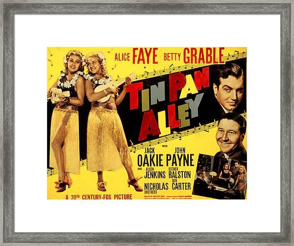 Tin Pan Alley, Alice Faye, Betty Framed Print by Everett