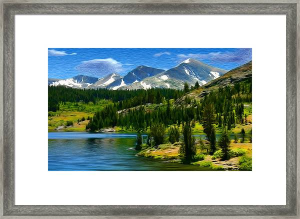 Tioga Lake Frank Lee Hawkins Framed Print