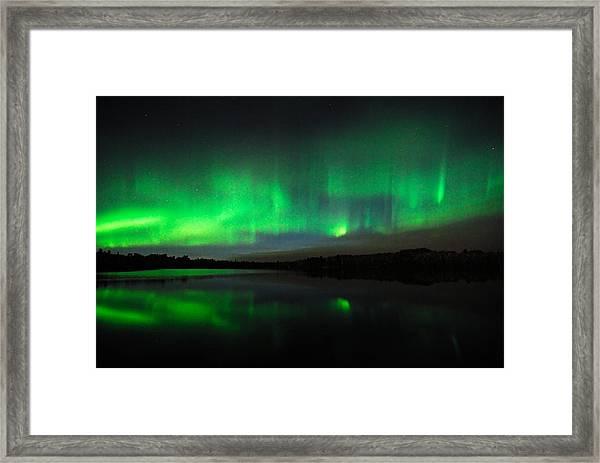 Tofte Lake Aurora Framed Print