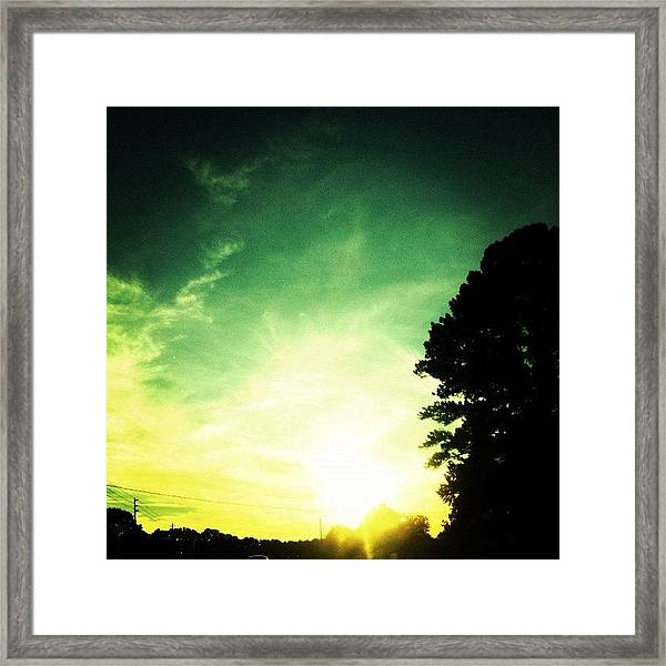 Took The Scenic Route Home Framed Print