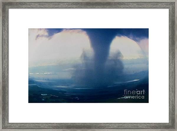 Tornado Destruction In 3d Framed Print