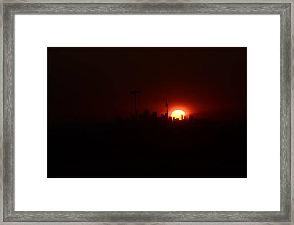 Toronto Sunrise Framed Print