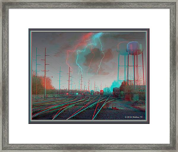 Tracking The Storm - Red-cyan Filtered 3d Glasses Required Framed Print