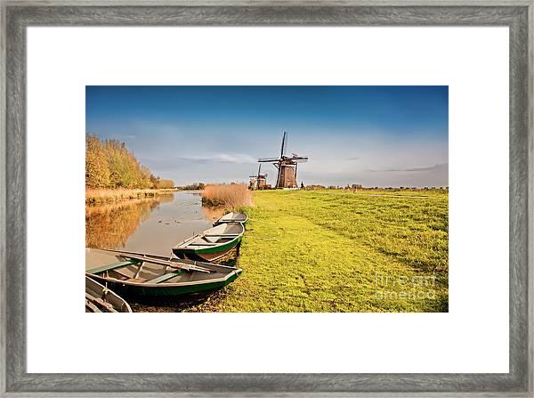 Traditional  Dutch Landscape Framed Print