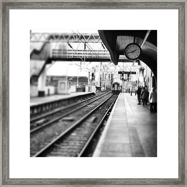 #train #trainstation #station Framed Print