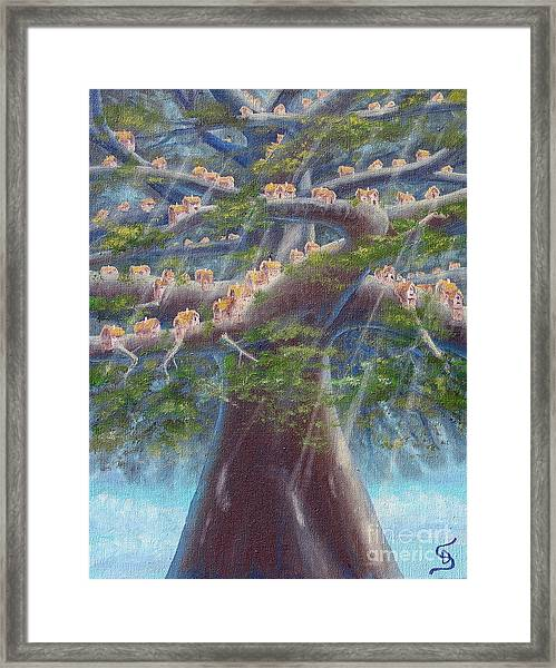 Tree Houses From Arboregal Framed Print