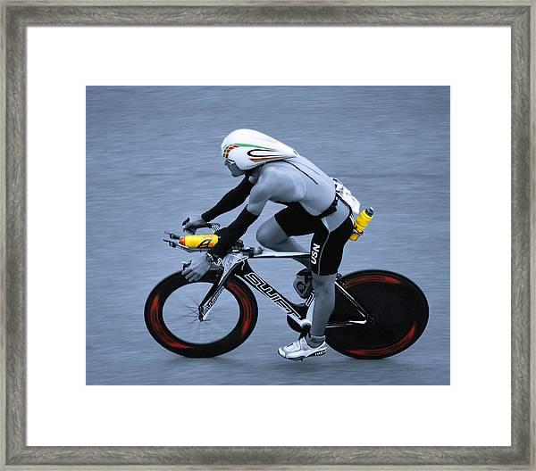 Triathlon Man Framed Print