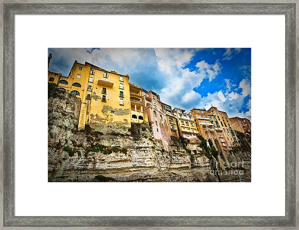 Tropea Houses Framed Print