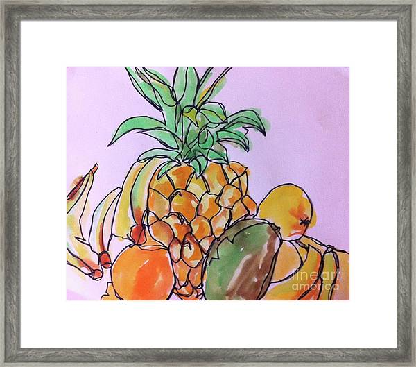 Tropical Snack Framed Print