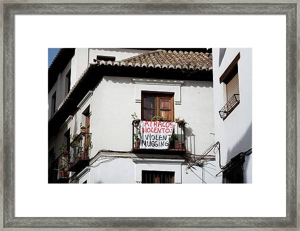 Framed Print featuring the photograph Trouble In The Neighborhood by Lorraine Devon Wilke