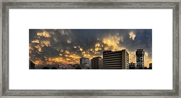 Turbulent City Framed Print