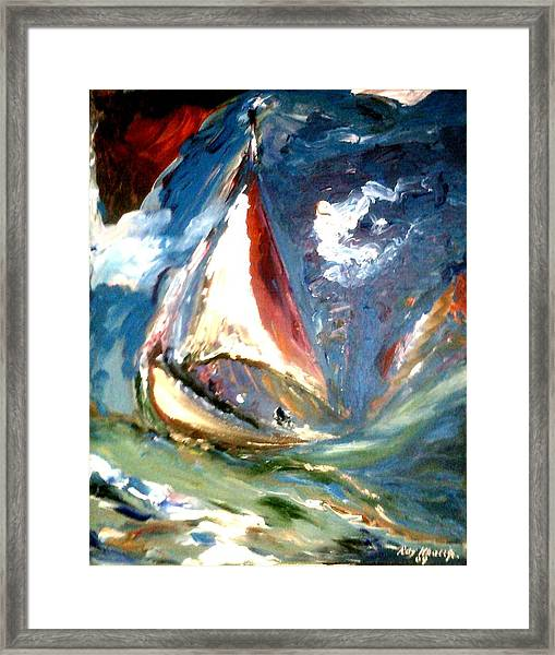 Framed Print featuring the painting Turmoil by Ray Khalife
