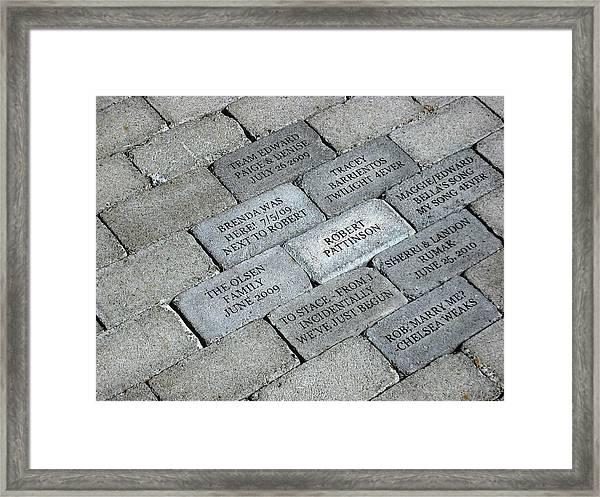 Twilight Walk Of Fame Framed Print
