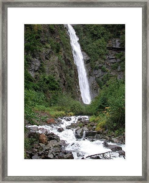 Twin Falls Framed Print